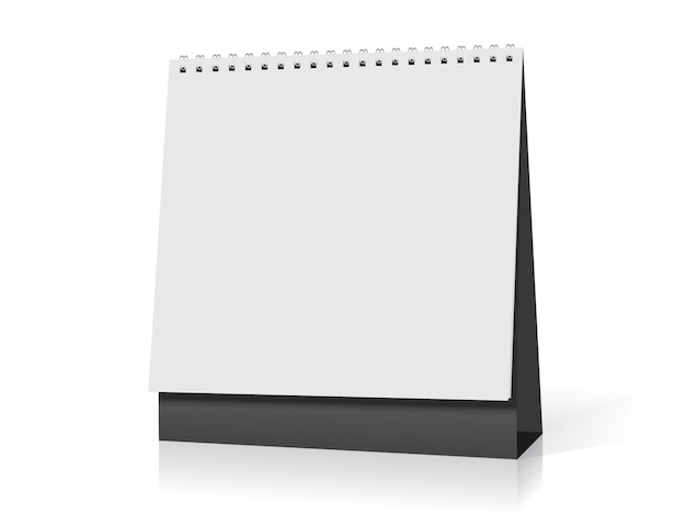 Makieta kalendarza spiralnego na biurko
