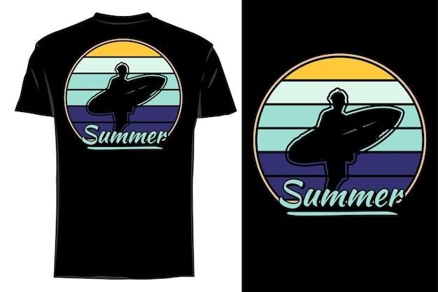 Makieta koszulki sylwetka lato retro vintage