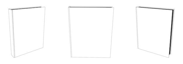 Makieta książki wektor z pustą okładką, ilustracja szablonu
