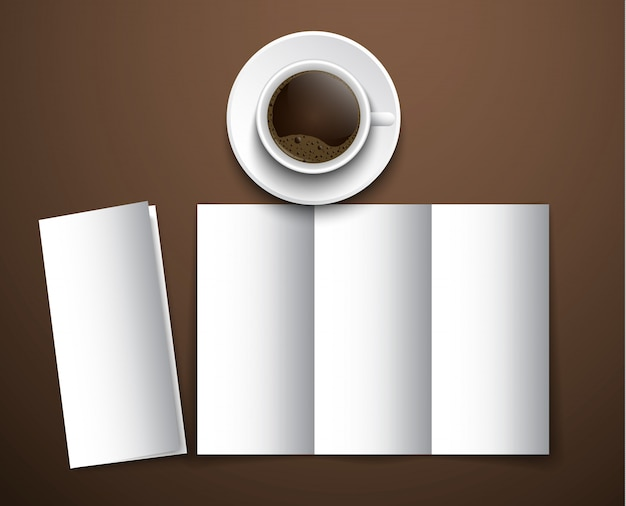 Makieta menu kawy przy filiżance kawy