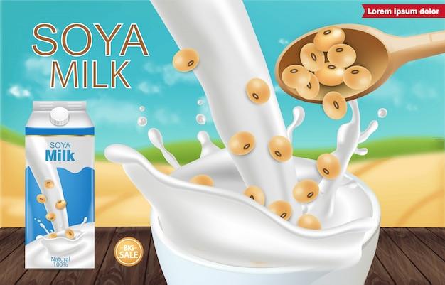 Makieta mleka sojowego