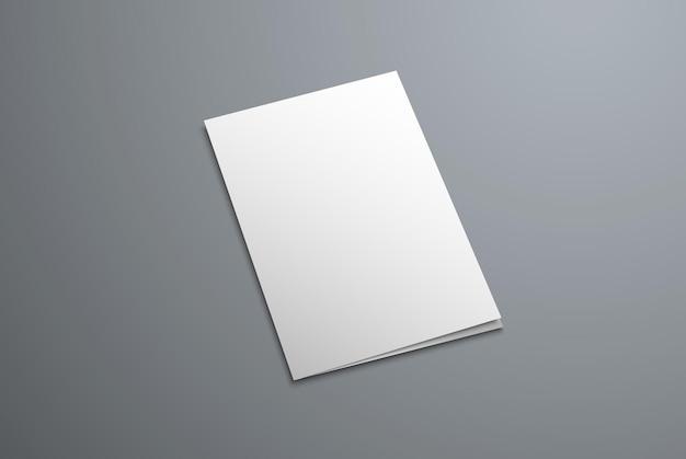 Makieta okładki zamkniętej broszury bifold. pusta ulotka do prezentacji projektu.