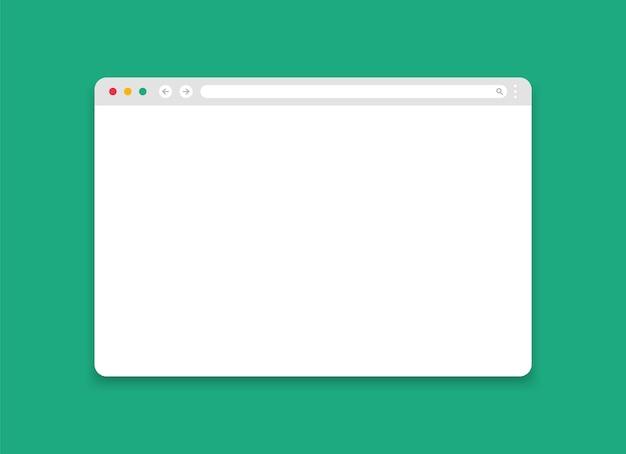 Makieta okna przeglądarki. nowoczesna strona internetowa.