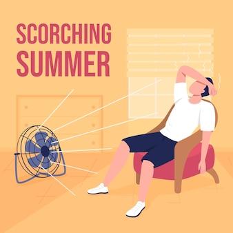 Makieta postów w mediach społecznościowych o gorącej pogodzie