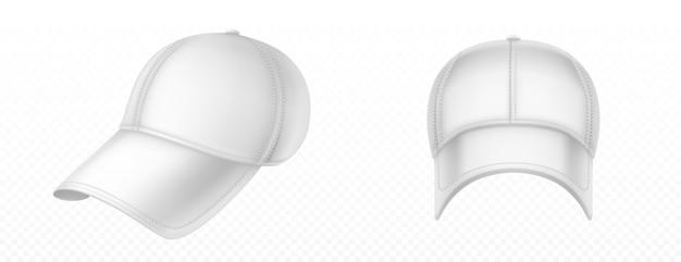 Makieta pustej białej czapki z daszkiem