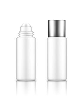 Makieta pustej plastikowej butelki kosmetycznej