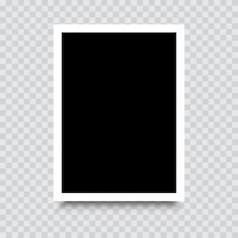 Makieta pustej ramki na zdjęcia z cieniem. wektor.