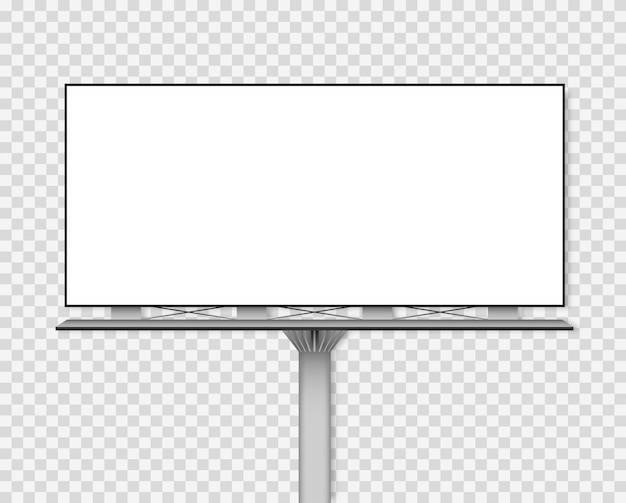 Makieta pustej tablicy reklamowej.