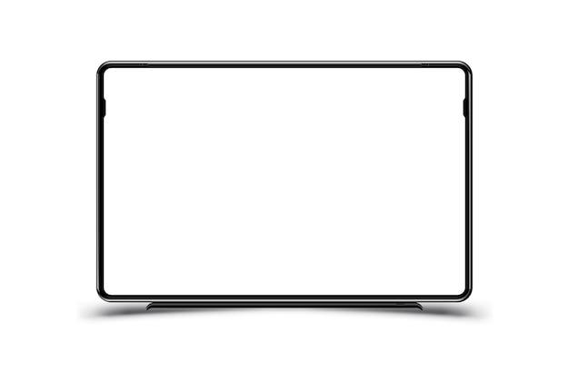Makieta realistycznego czarnego monitora telewizyjnego