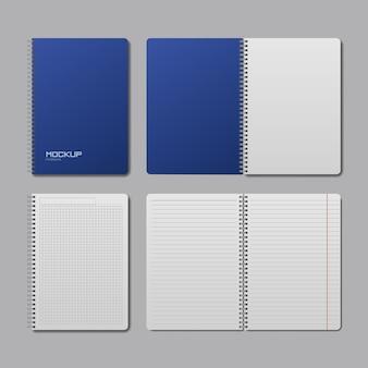 Makieta realistycznego notebooka
