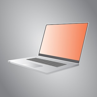 Makieta szablon izometryczny laptopa