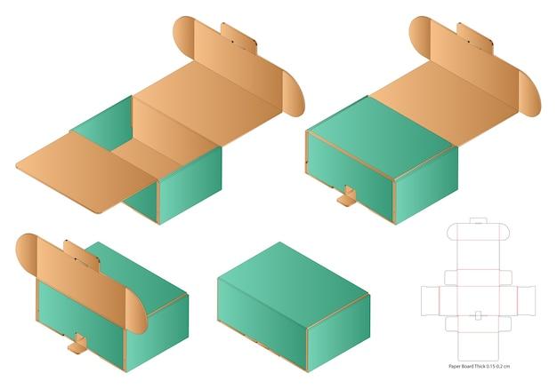 Makieta szablonu wycinanego w pudełku
