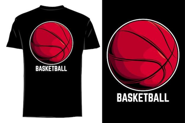 Makieta t-shirt wektor koszykówka retro vintage