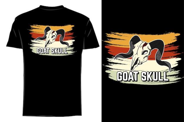 Makieta t-shirt wektor koza czaszka retro vintage