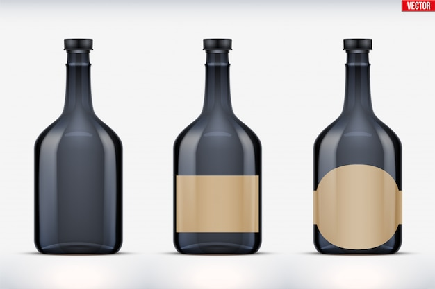 Makieta zestawu butelek rumu