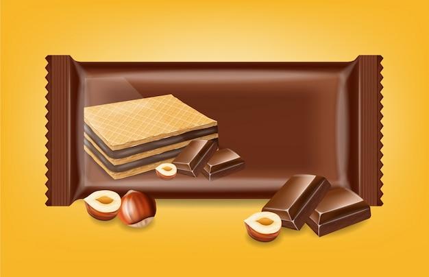 Makiety ciasteczka czekoladowe gofry