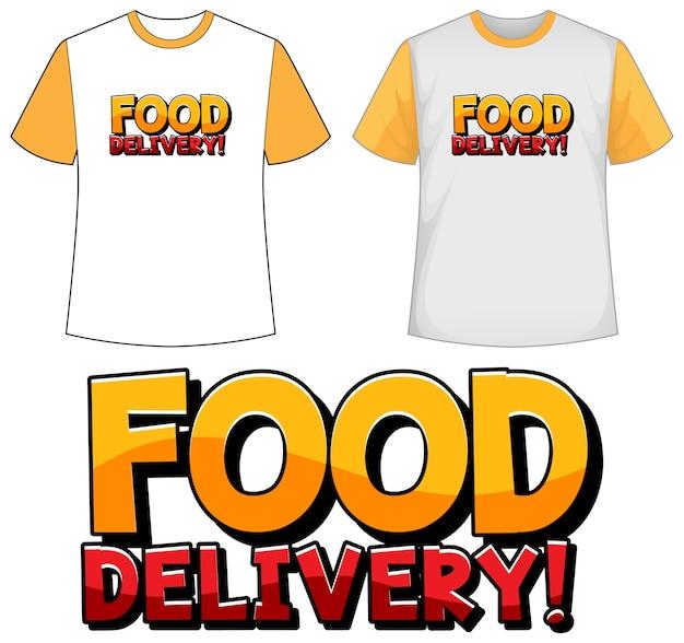 Makiety koszuli z ikoną dostawy żywności