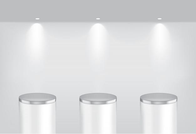 Makiety realistyczne puste metalowe półki
