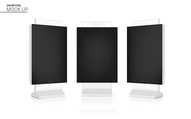 Makiety realistyczne zwijanie led kiosk banner display 3d pop