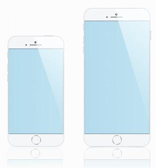 Makiety smartfonów demonstracyjnych w różnych rozmiarach do swoich celów
