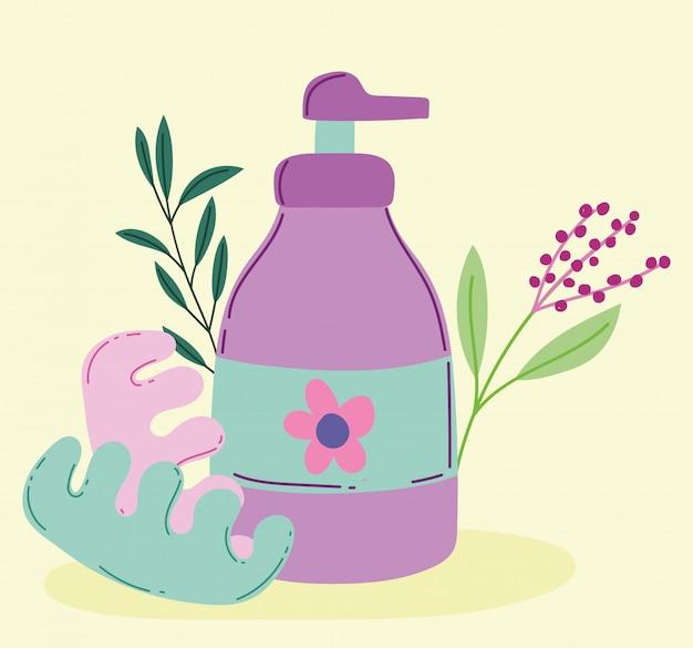 Makijaż kosmetyki produkt moda uroda dozownik balsam do ciała pedicure separatory ilustracja