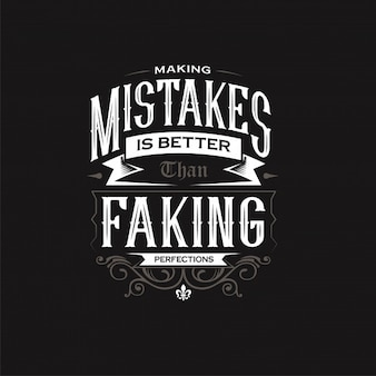 Making mistakes typography quote design