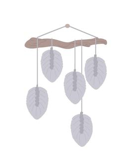 Makrama z ornamentem w liście