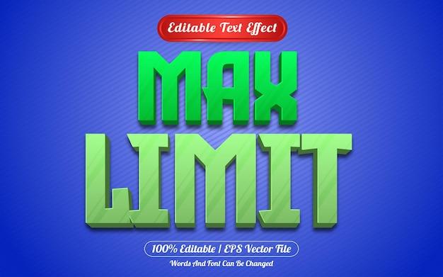 Maks. limit edytowalnego stylu szablonu efektu tekstowego