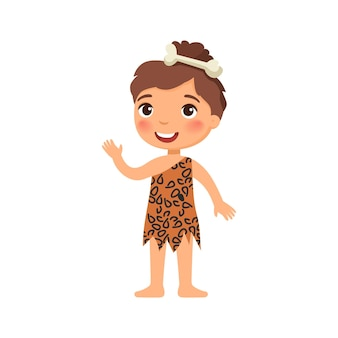 Mała dziewczynka na obrazie starożytnego człowieka