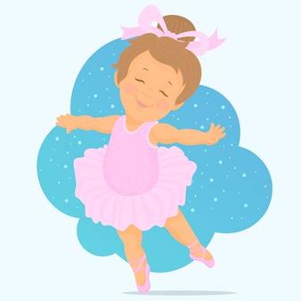 Mała dziewczynka tańczy balet