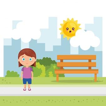 Mała dziewczynka w parku