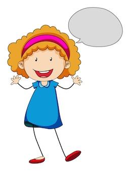 Mała dziewczynka z mową bąbelkową