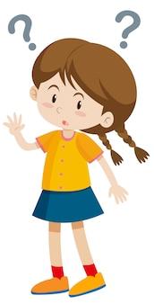 Mała dziewczynka ze znakami zapytania