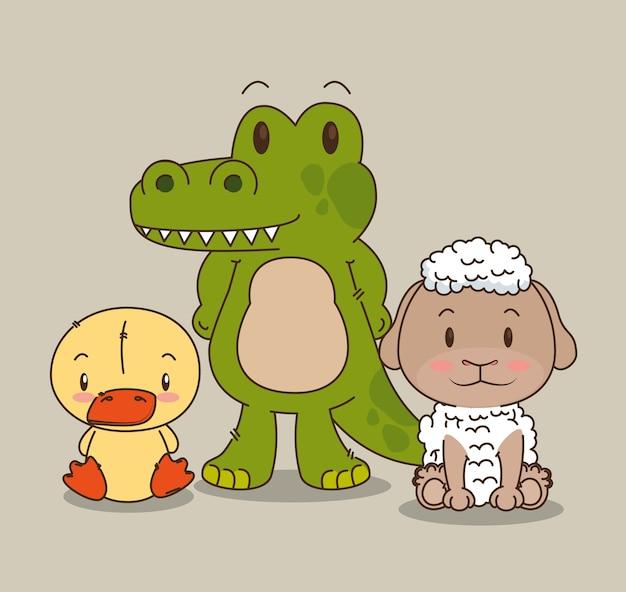 Mała i urocza grupa zwierząt