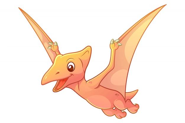 Mała ilustracja kreskówka pterodaktyla