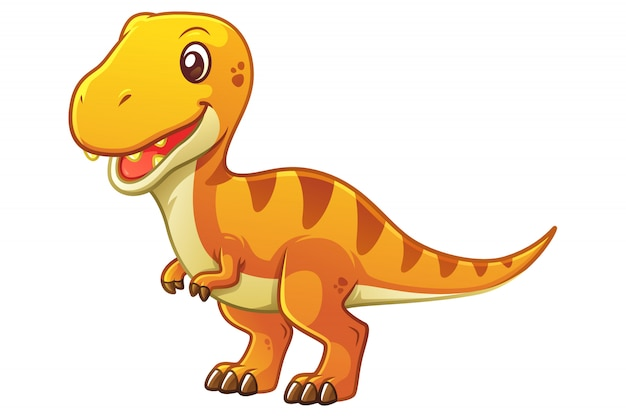 Mała ilustracja kreskówka tyranozaura