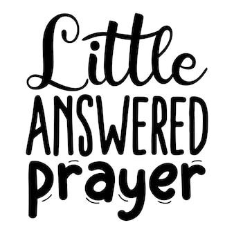Mała odpowiedziana modlitwa cytaty ilustracja premium wektorów
