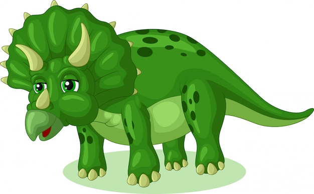 Mała triceratops cartoon