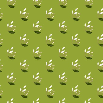 Małe białe gałęzie jagód kształtują wzór w stylu botanicznym