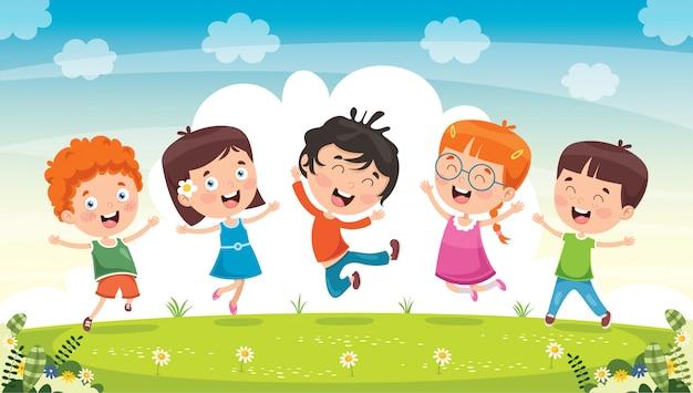 Małe dzieci bawią się razem