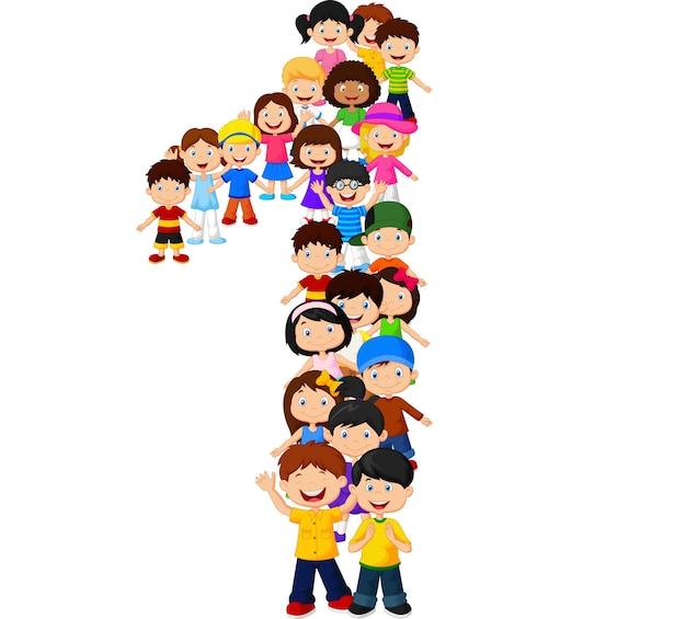 Małe dzieci tworzą numer jeden