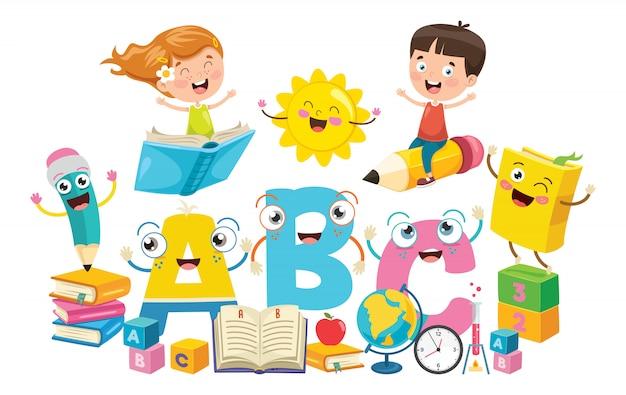 Małe dzieci w wieku szkolnym