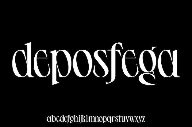 Małe litery elegancki i luksusowy zestaw wektorów alfabetu