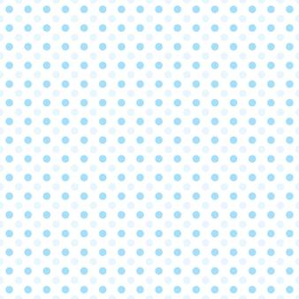 Małe niebieskie kropki w połowie kropli powtarzają się na białym tle wzór