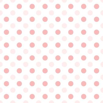 Małe różowe kropki w połowie kropli powtarzają się na białym tle wzór