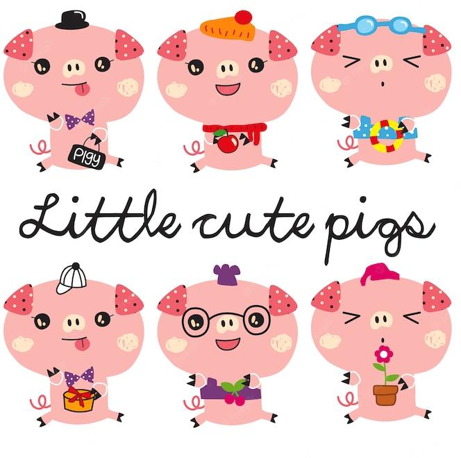 małe słodkie świnki