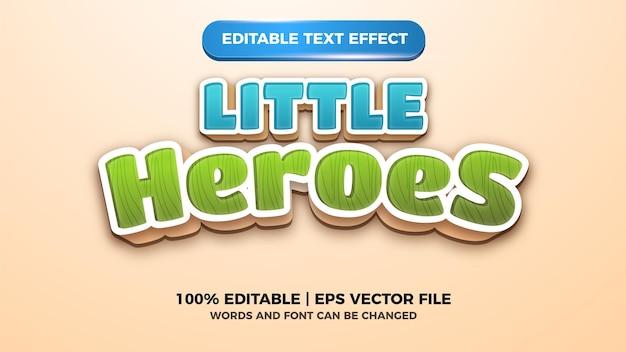 Mali bohaterowie edytowalny efekt tekstowy