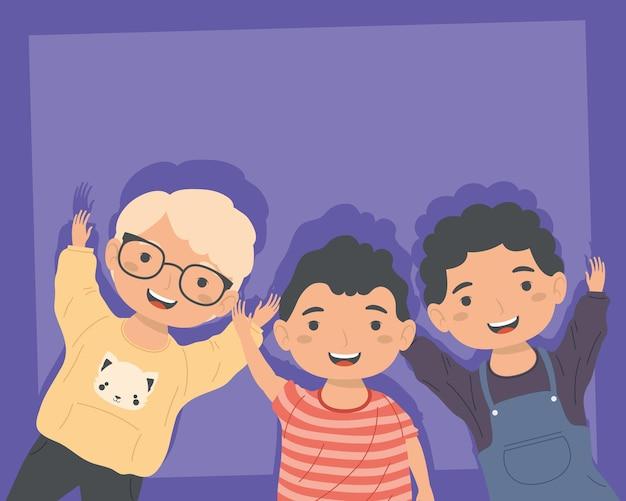 Mali chłopcy trzy postacie