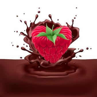 Malinowe serce z czekoladą