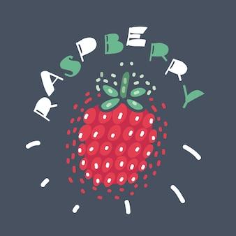 Malinowy słodki owoc